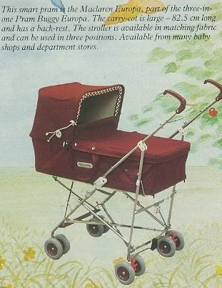 Had this pram for my daughter. It was one of the first 3 in 1 prams. I thought it was so trendy !