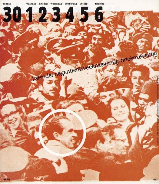"Cover of the 1972/73""People calendar"" for Mart.Spruijt. Designed by Jan van Toorn"