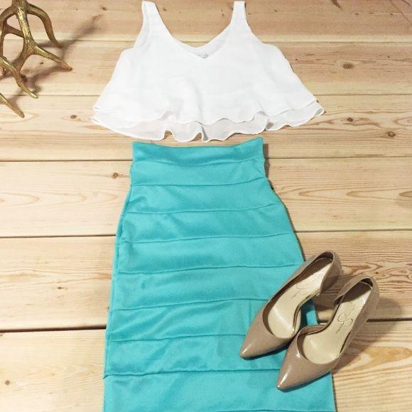 mint green pencil skirt mint green bodycon pencil skirt