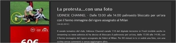 Milan-Udinese foto: il rigore inesistente? Udinese Channel mostra il fermo immagine...alla Muntari
