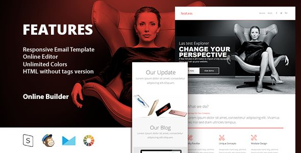 Features - Responsive Email Template - Email Stationery Email Templates