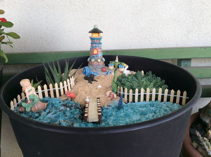 Great Beach Fairy Garden By Bonnie
