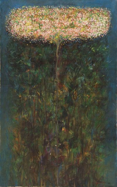 Iurie Cojocaru - Arbore in noapte  Eram la vernisaj la Alba-Iulia cand m-am indragostit de acest copac, de aceasta stare, de aceasta sarbatoare, de bucuria infloririi si depasirii noptii - Ermiona Pop
