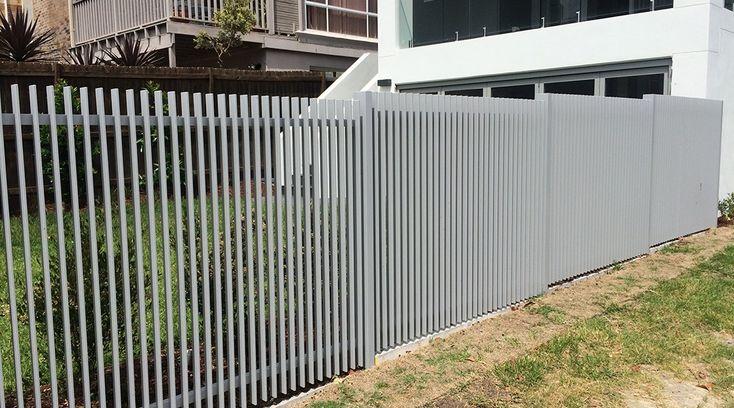 Aluminium 3D slat fencing