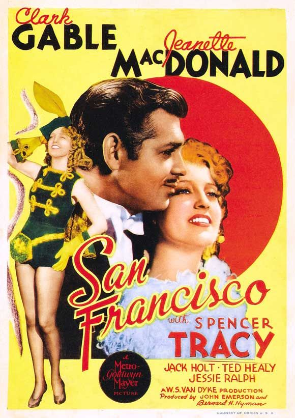 San Francisco (1936) Clark Gable, Jeanette MacDonald
