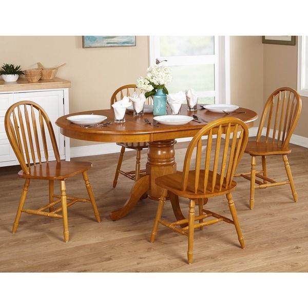 Country Kitchen Farmhouse 5 Piece Oak Dining Room Set In Home U0026 Garden,  Furniture, Dining Sets