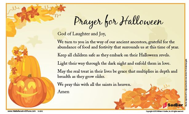 Prayer for Halloween: