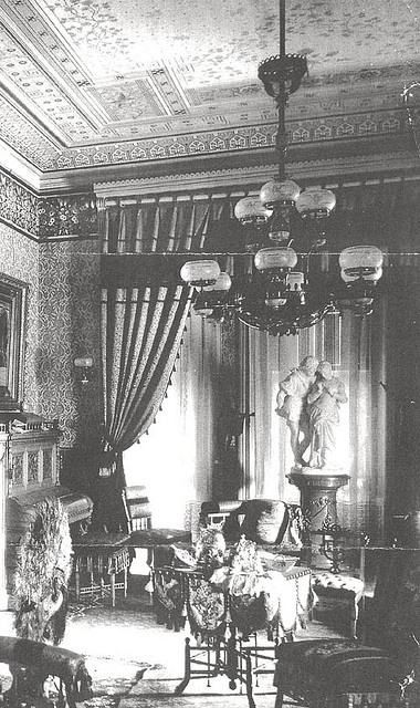 """Parlor 1880's"" when I build my house I am going to have a room like this for family and friends"