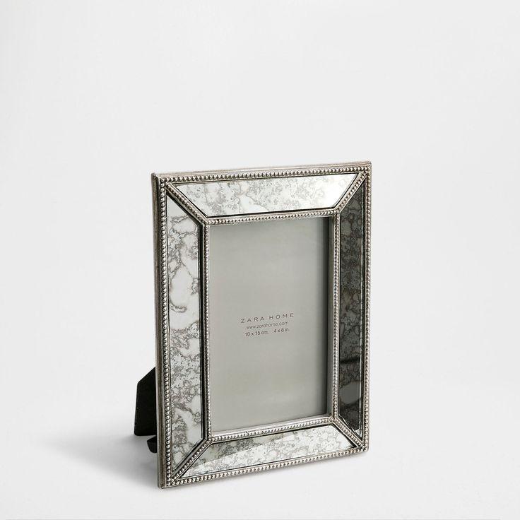 mirrored antique finish frame frames decoration zara. Black Bedroom Furniture Sets. Home Design Ideas