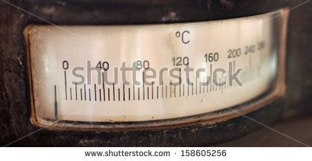 Old vintage analog thermometer