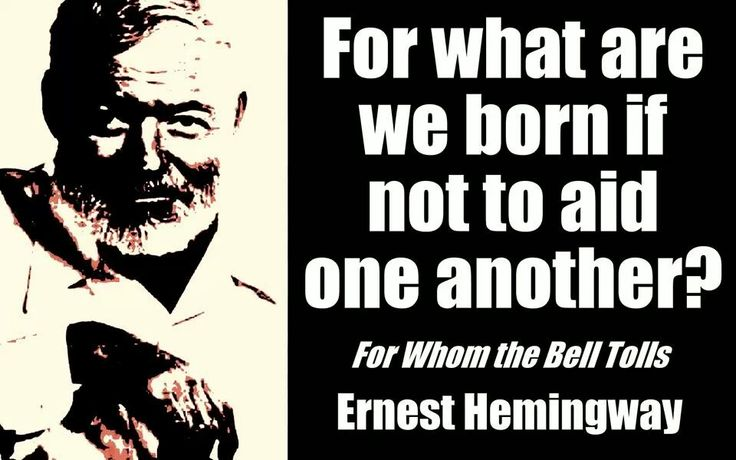 a feeling of doom in for whom the bell tolls by ernest hemingway Yet within three years, hemingway's novel, published by scribners, had sold  850,000 copies  for whom the bell tolls has subsequently never been out of  print, while  greeted for whom the bell tolls to gain a sense of how literary  tastemakers in  again, the dread phrase, light touch is raised with regard to  macaulay's.