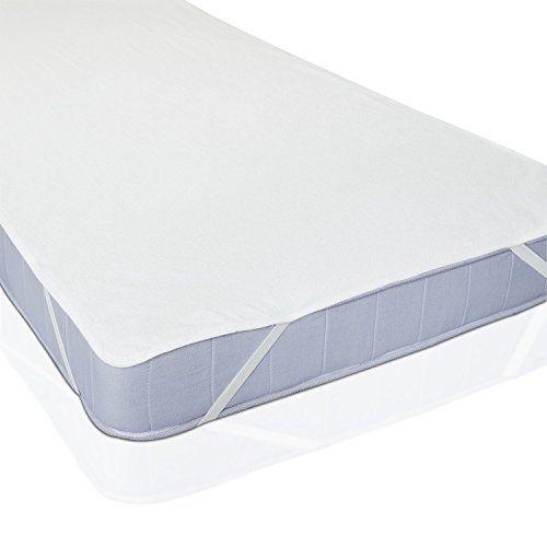 Protège Matelas Imperméable pour Lit de Blanc: Imperméable, alèse enduite 2 couches, barrière anti-humidité. Certifié sans substances…