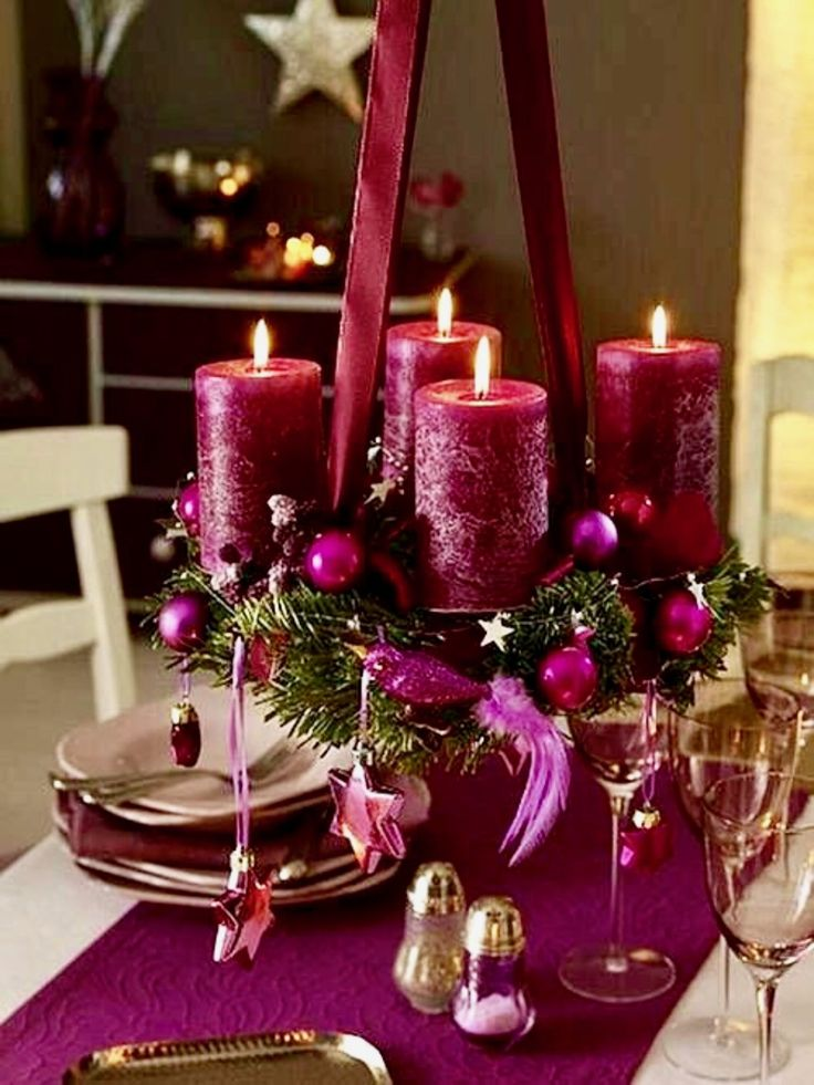 Christmas Centerpieces For Round Tables 893 best christmas table decorations images on pinterest