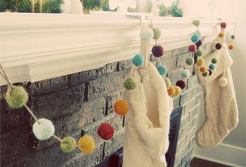 Handmade Holiday Garlands.