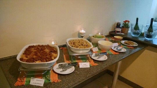 Menu: buffet de massas