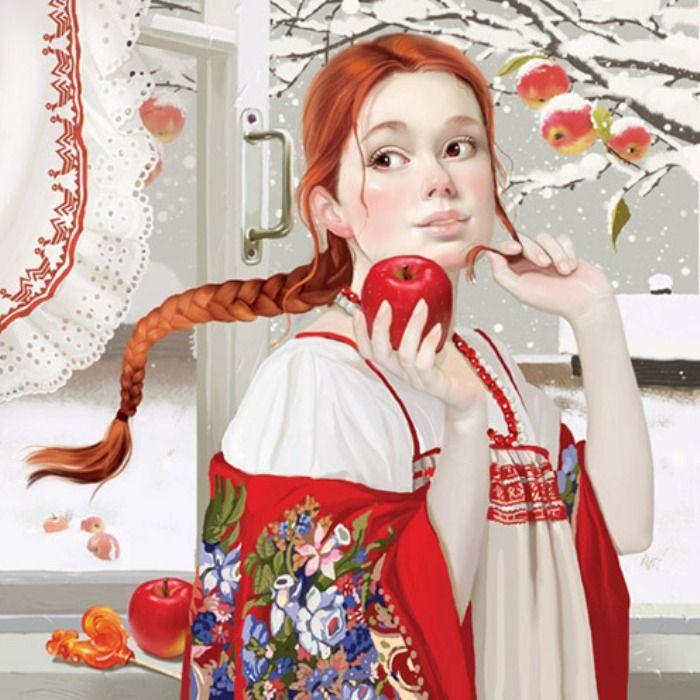 Первый снег. Волшебные иллюстрации Дорониной Татьяны (Doronina Tatiana).