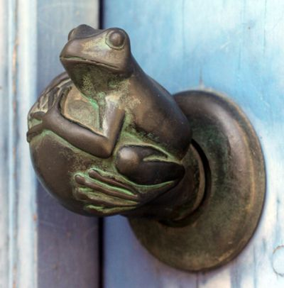 I would just love love love to have this frog doorknob! It would go on every door in my home :D