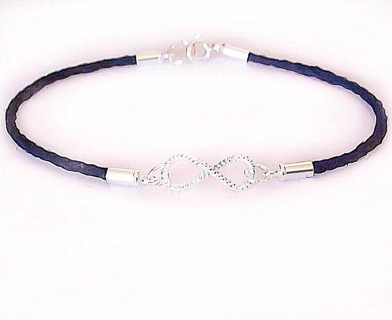 Infinity charm bracelet, Infinity bracelet, sterling silver, minimalist bracelet