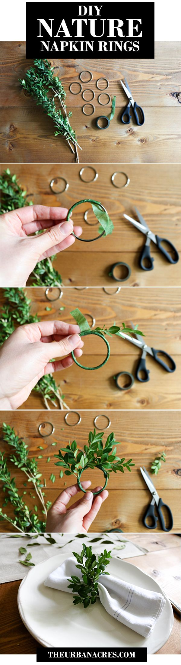 DIY Nature Napkin Rings for your table! #crafts_table_organizer