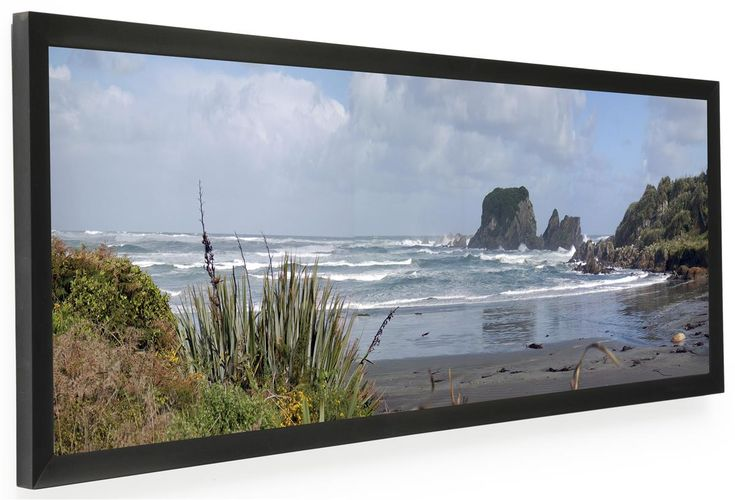 36 x 12 Panoramic Picture Frame for Wall Mount Use, 1-inch Profile - Black