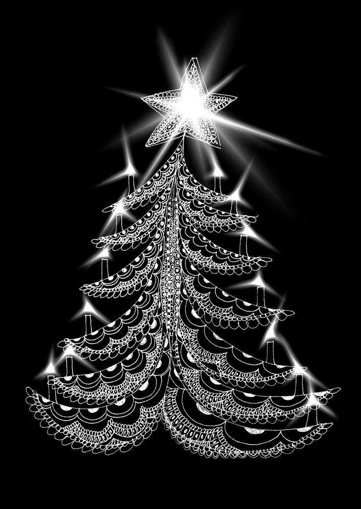 Christmas tree. Drawing design by Hammi´s Design.