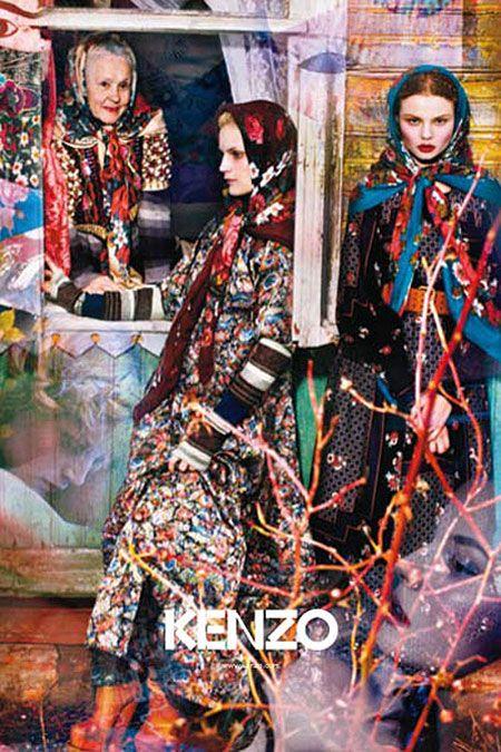 Russia by Kenzo. Russian beauty. Russian girls. Fashion. Folk floral patterns