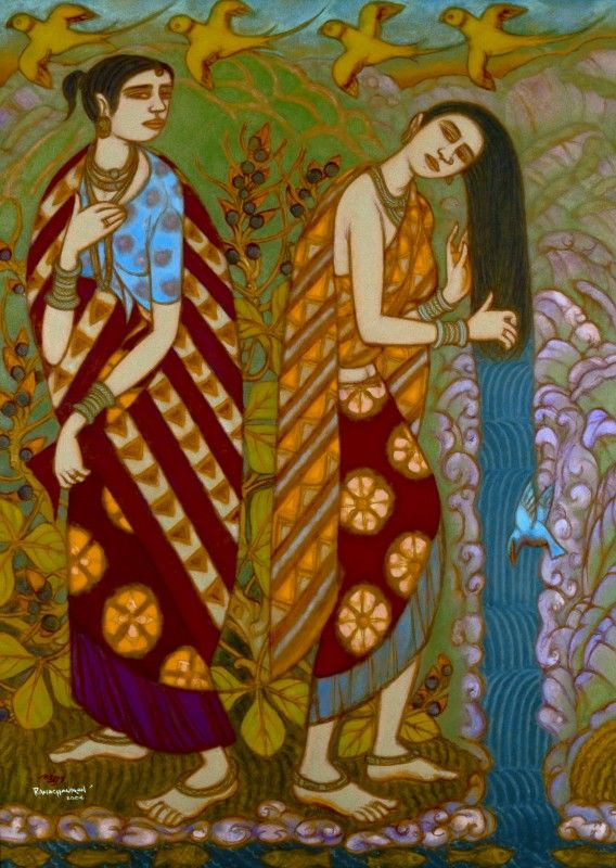 46 best kerala mural painting images on pinterest for Asha ramachandran mural painting