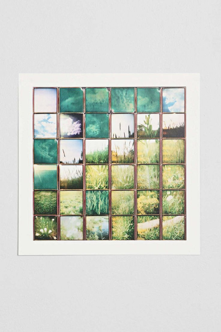 Summer Squares Art Print - Urban Outfitters