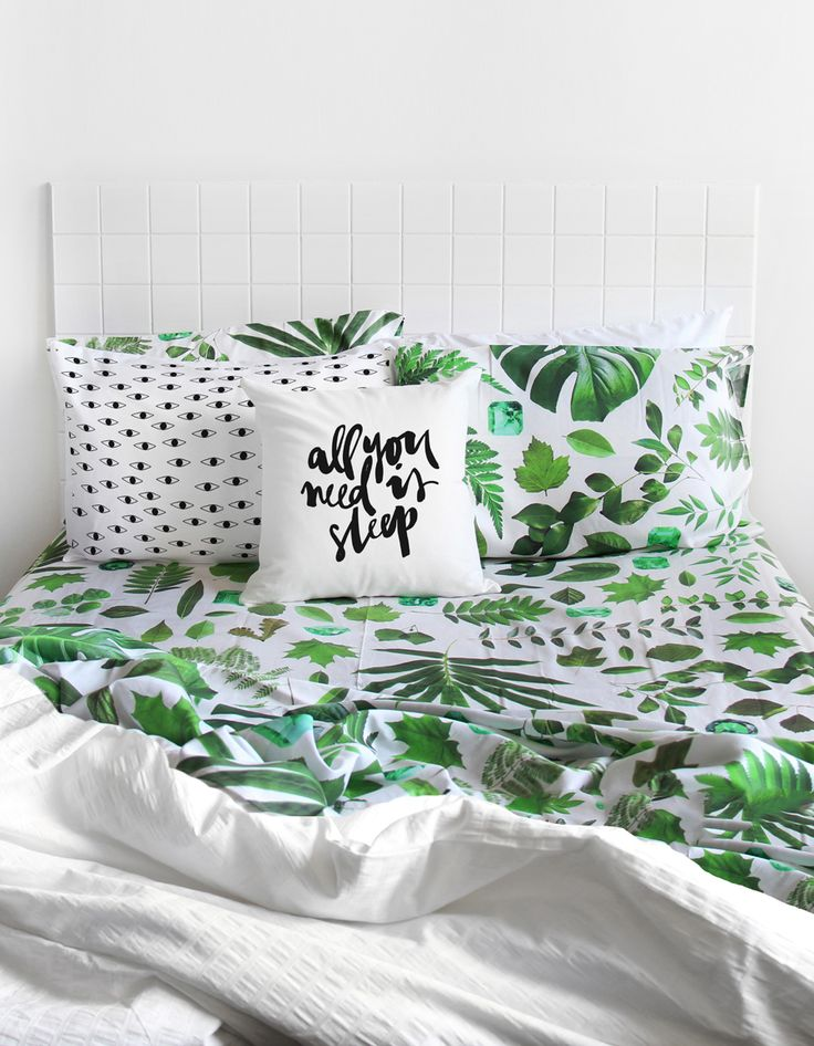 Oh god I can't decide. Whales or leafy greens. Emerald Garden QUEEN BED sheet set