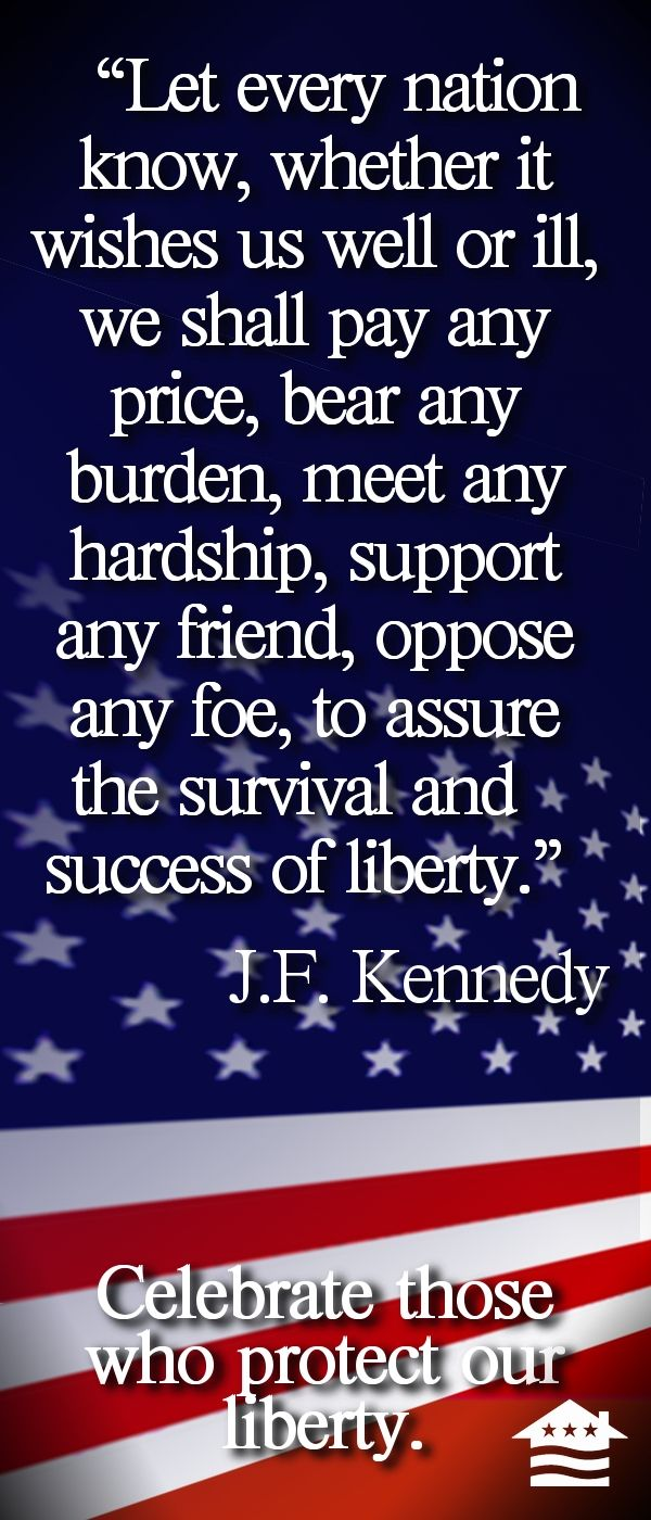 """Let every nation know..."" JFK This  WAS a REAL DEMOCRATIC PLATFORM!  What has happened to the Democratic Party?"