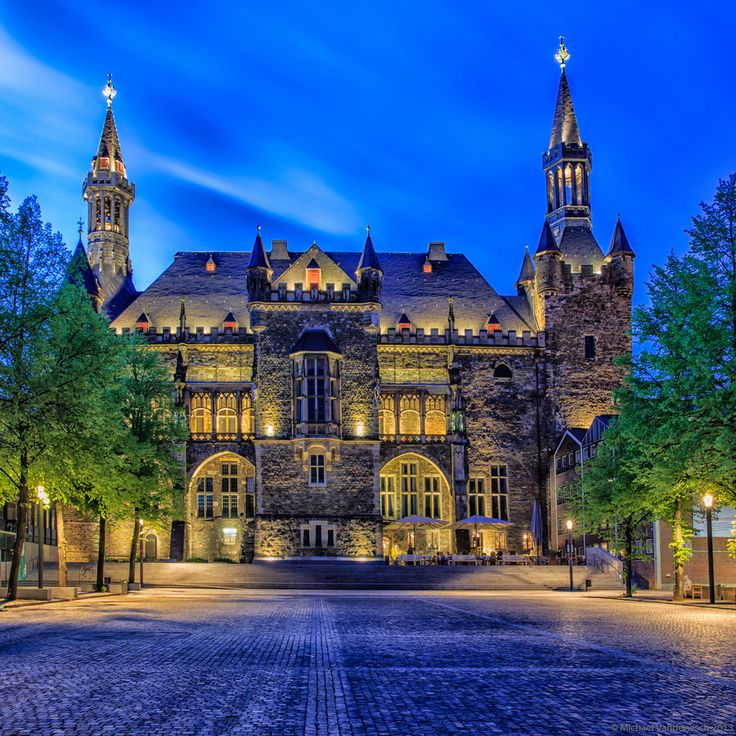 Aachen historical Town Hall Germany