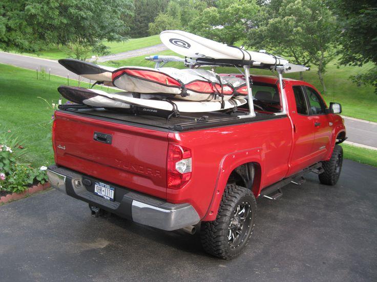 RetraxPRO MX Retractable Tonneau Cover + TracRac SR Truck Bed Ladder Rack System