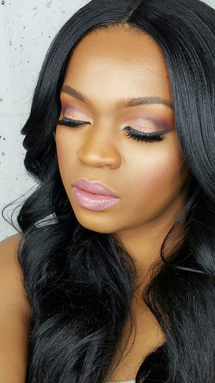 Black girl magic #makeupjunkie #toofacepalle t #pinkmakeup #blackgirlmakeup #weave