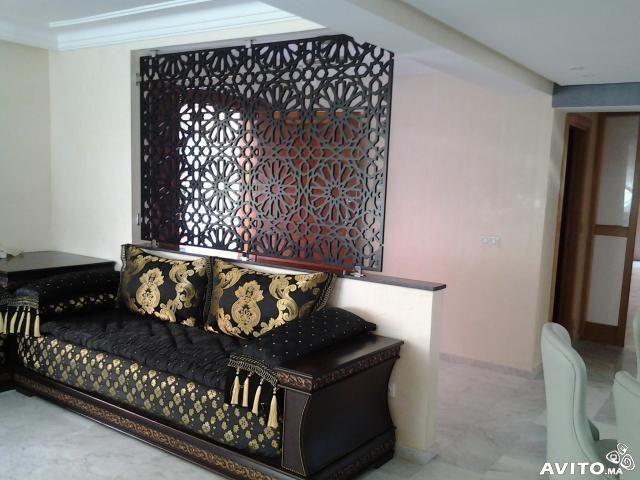 Menuiserie De Bois Salon Marocain | Moroccan Decor | Salon Marocain,  Moroccan Decor, Moroccan Interiors