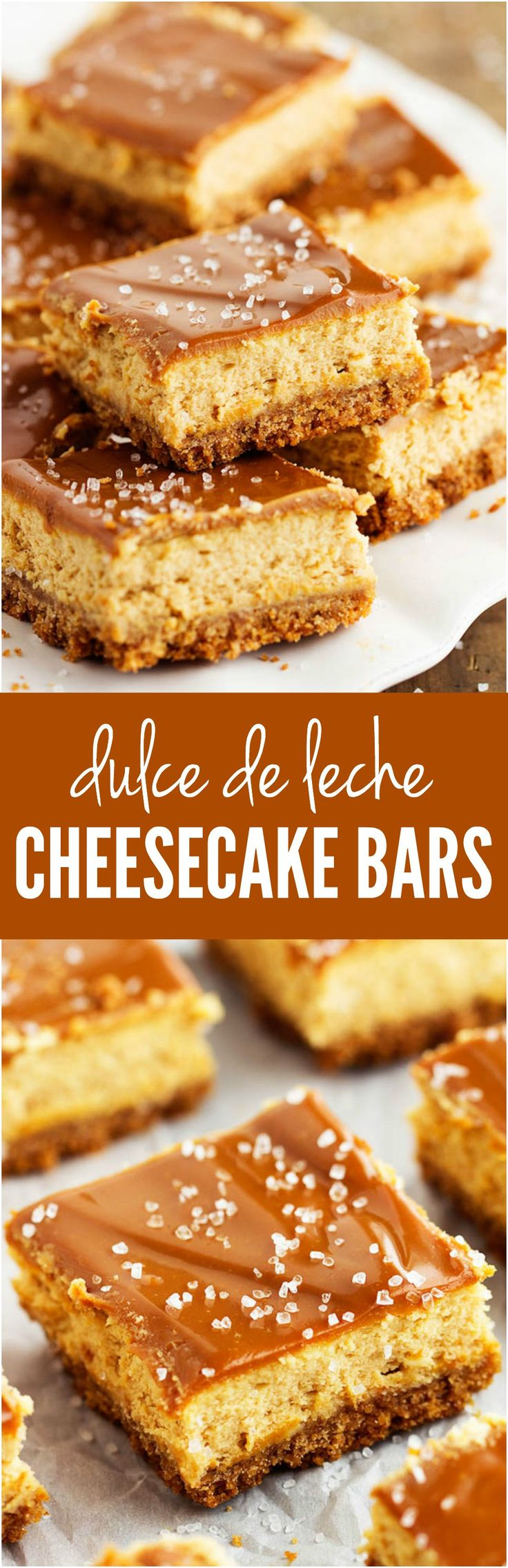 Creamy and delicious cheesecake bars made with a rich caramel sauce and glaze that are out of this world!