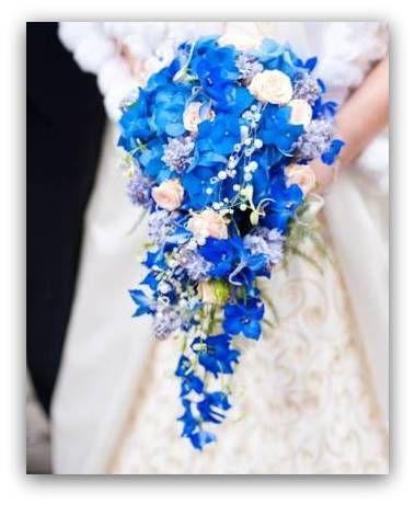Bukiet Slubny Z Niebieskich Kwiatow Blue Wedding Bouquet Bridal Bouquet Blue Hydrangea Bridal Bouquet