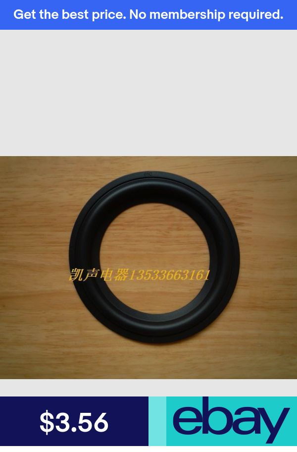 """A pair NEW 4/"""" 4 inch Repair woofer Speaker Soft Rubber Surrounds #Z075 ZY"""