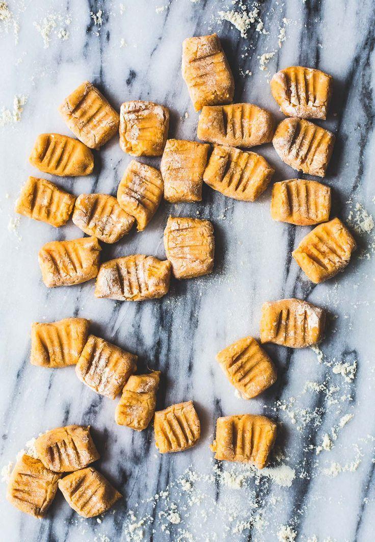 5 Ingredient Gluten-Free and Vegan Sweet Potato Gnocchi {via heartbeet kitchen blog}