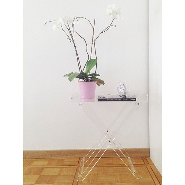 Lucite table from zara home dyptique candle home for Table zara home