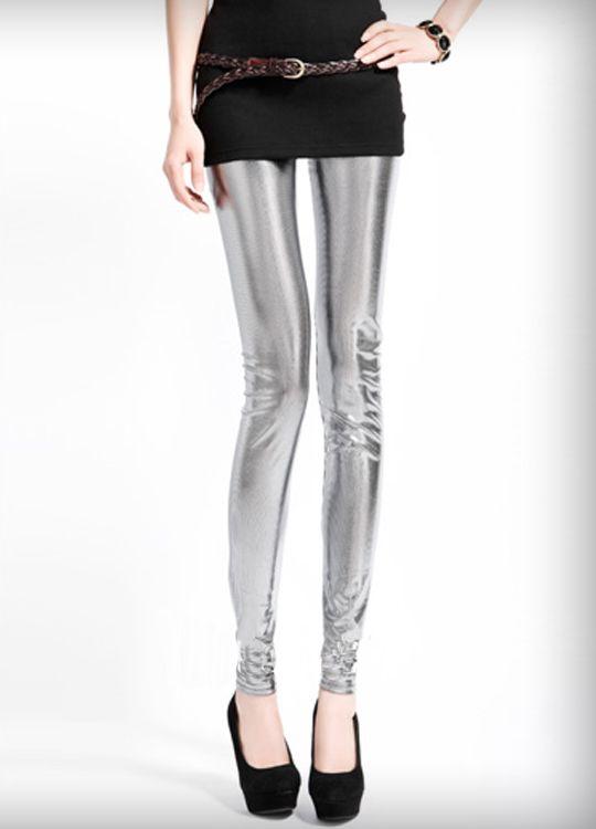 Silver Metallic Disco Legging  $16.62