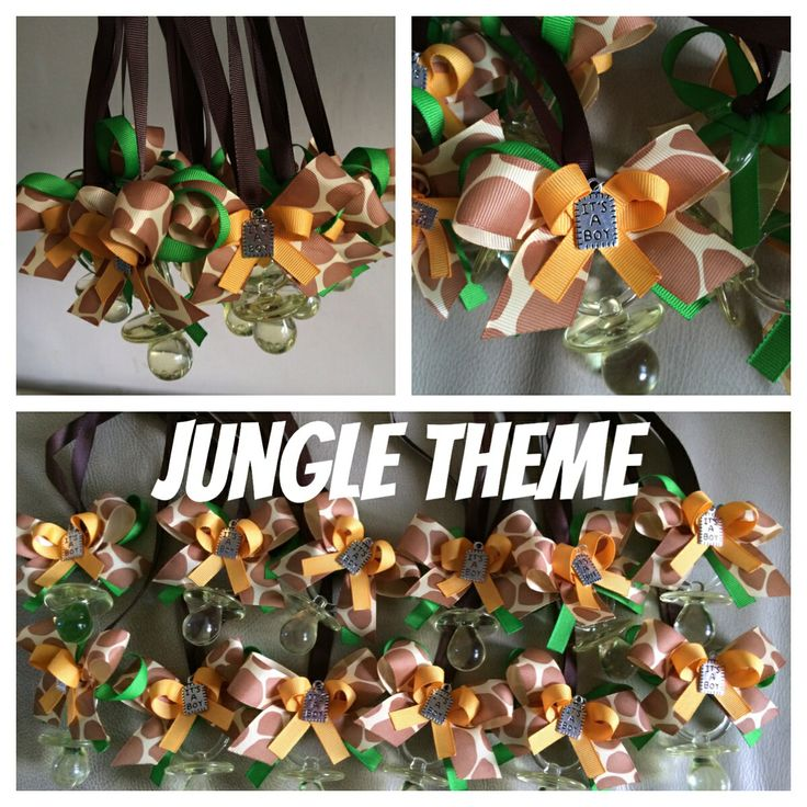 Jungle Theme Baby Shower Necklaces. Party Favors. Match