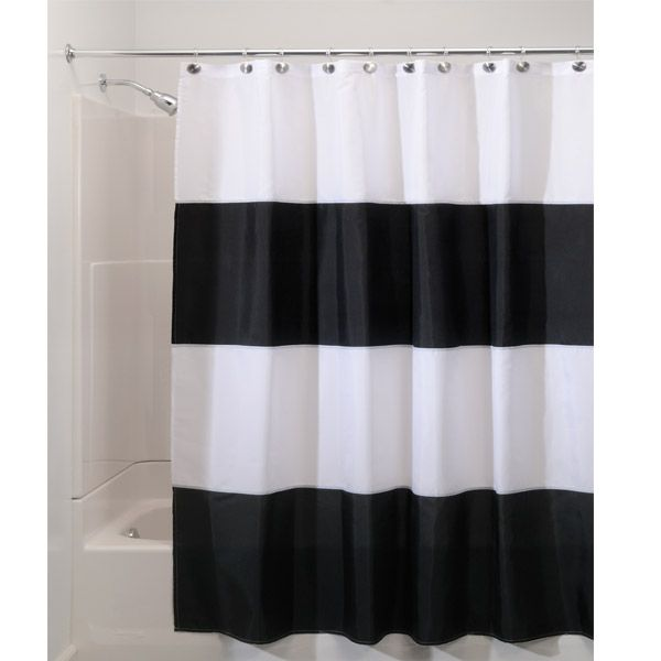 Black and White Striped Shower Curtain42 best Black and White Striped Shower Curtain images on Pinterest  . Pink And White Striped Shower Curtain. Home Design Ideas