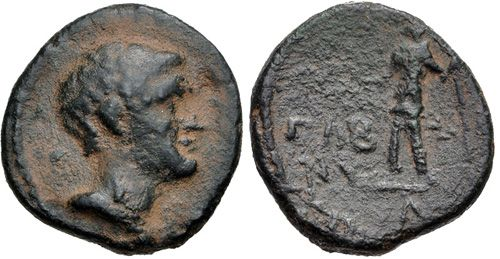 CNG: eAuction 398. DECAPOLIS, Nysa-Scythopolis. Marcus Licinius Crassus. Governor, 54-53 BC. Æ (19mm, 6.02 g, 12h). Dated CY 10 (54 BC).