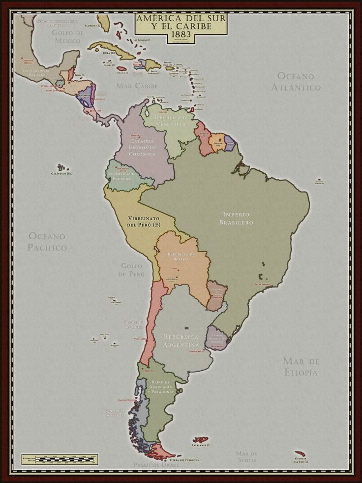 South America in 1883 (Alt History) - Steamclock by McMagnanimus on DeviantArt
