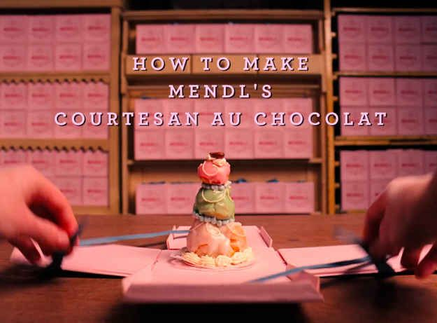 How to make the pastry from Wes Anderson's New Movie (The Grand Budapest Hotel) - Mendl's Courtesan au Chocolat.