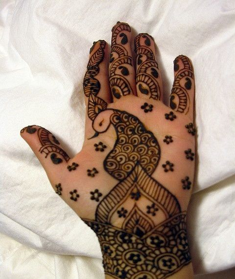 Bird Henna Tattoo Designs: Bird Design For Henna Tattoos -Perfect For