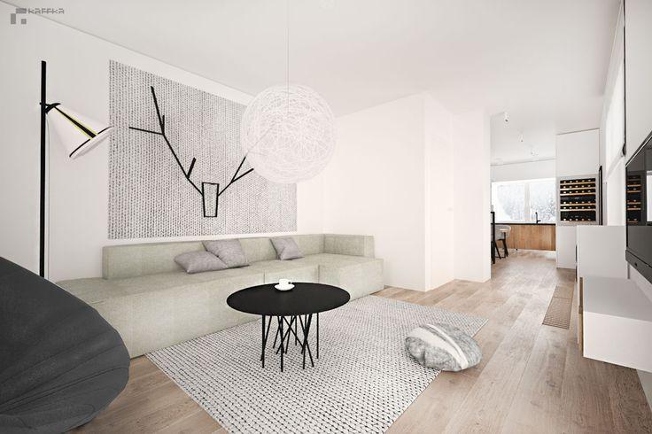 projekt: Katarzyna Francug, Jacek Doszyń Pracownia Kaffka Living room /minimalism
