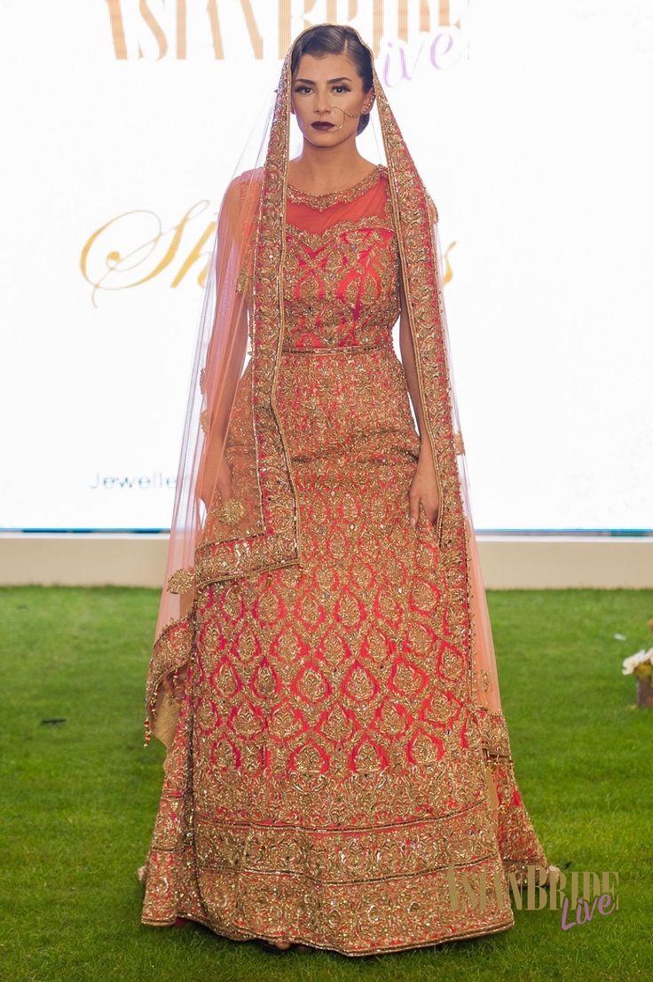 red Orange Bridal Lengha Sharons Couture-INDIAN-PAKISTANI-WEDDING-FASHION