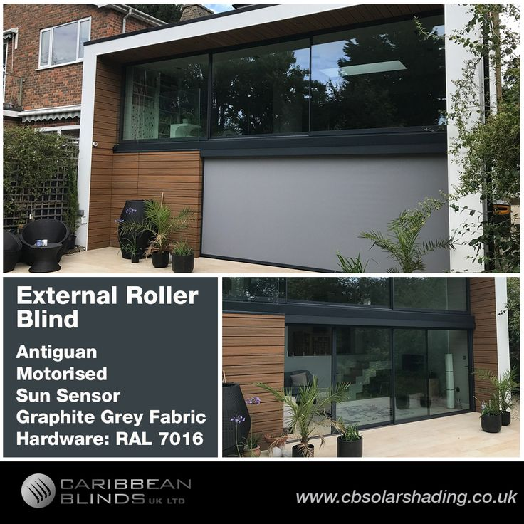 We are very impressed with this Antiguan External Roller Blind we fitted in Kingston upon Thames this week. The sleek edge to edge blind design matches perfectly with the contemporary building. New builds like this are often designed with large expanses of glass, a great feature to let light in and create an open air space. This feature comes with a price, with so much glass this now creates a vulnerability to solar heat gain which is why External Blinds are strongly advised. Smart window…