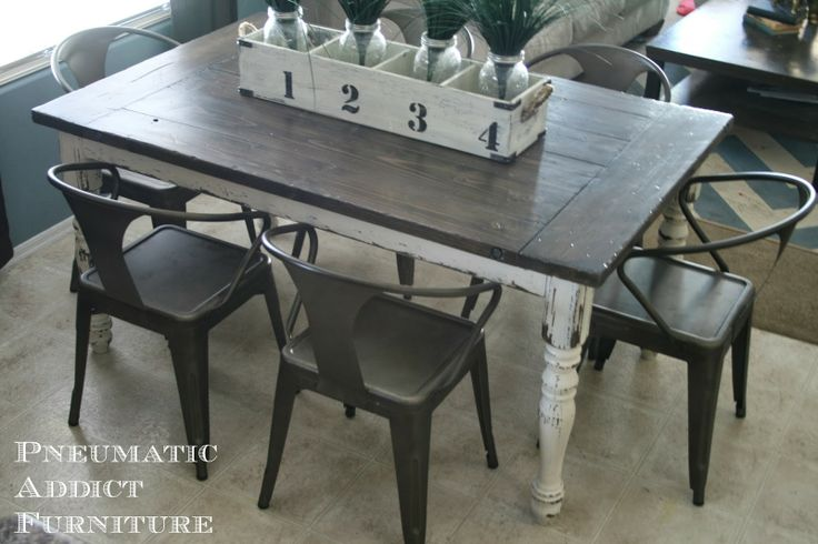 Farmhouse Tables With Industrial Chairs Diy Industrial